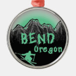 Bend Oregon artistic skier Christmas Ornament