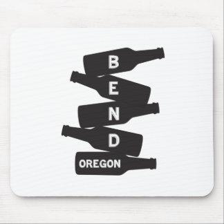 Bend Oregon Beer Bottle Stack Logo Mouse Pad