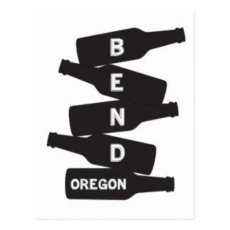 Bend Oregon Beer Bottle Stack Logo Postcard