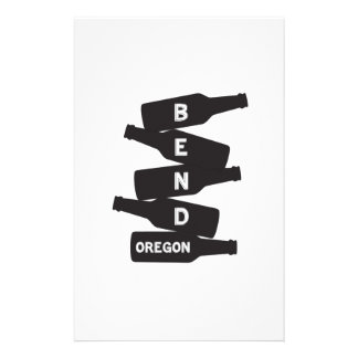 Bend Oregon Beer Bottle Stack Logo Stationery