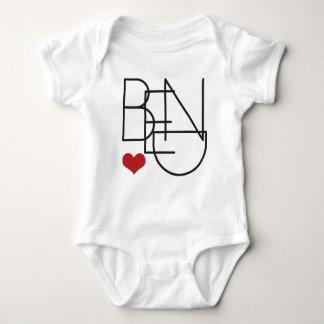 Bend Oregon Heart Baby Bodysuit