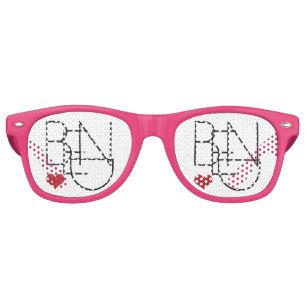 2b81d98c4320 Bend Oregon Heart Logo Bachelorette Gifts Retro Sunglasses