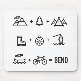 Bend Oregon Outdoor Activities Equation Mouse Pad