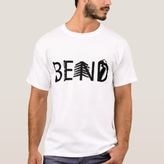 Bend Oregon Outdoor Activity Letters Logo T-Shirt