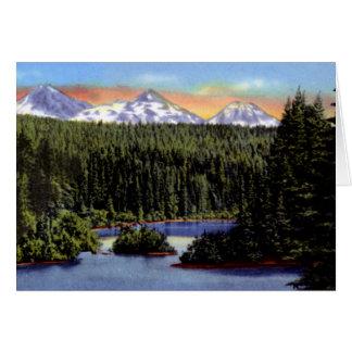 Bend Oregon Scotts Lake and Three Sisters Card