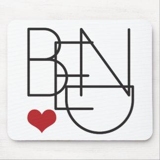Bend Oregon Word Heart Logo Mouse Pad