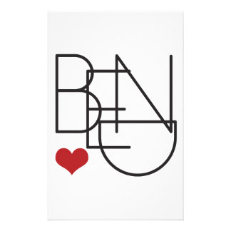 Bend Oregon Word Heart Logo Stationery