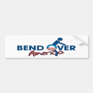 Bend Over America: Anti Obama Bumper Sticker Car Bumper Sticker