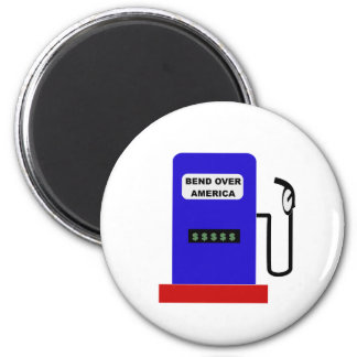 BEND OVER AMERICA - Gas Pump lube job 2 Inch Round Magnet