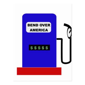 BEND OVER AMERICA - Gas Pump lube job Postcard