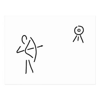 bend-protects arrow bent postcard