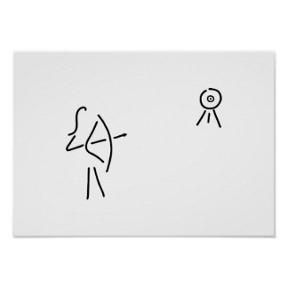 bend-protects arrow bent poster