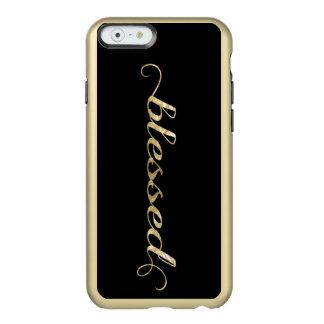 Bendecido, agradecido inspirado de la Hoja-Mirada Funda Para iPhone 6 Plus Incipio Feather Shine