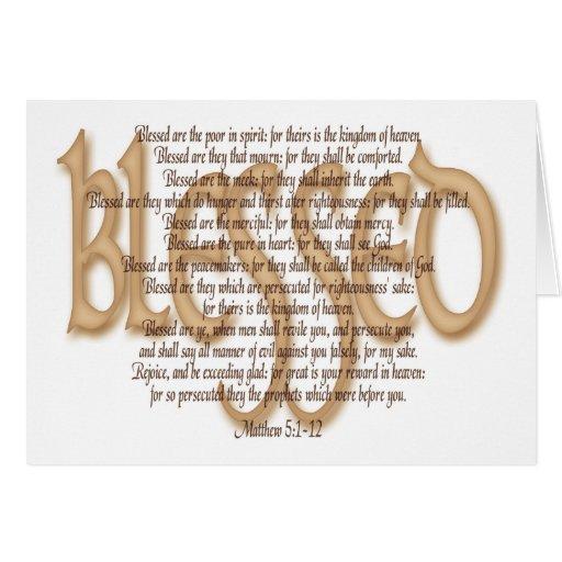 Bendecido - beatitudes tarjeta de felicitación