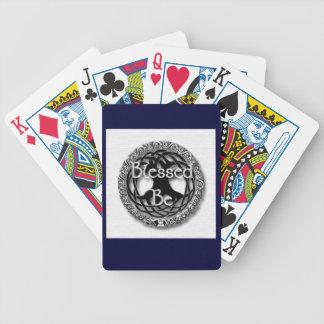 Bendecido esté/árbol de los naipes de la vida barajas de cartas