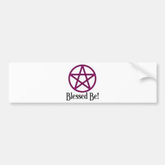Bendecido sea Pentagram Pegatina Para Auto