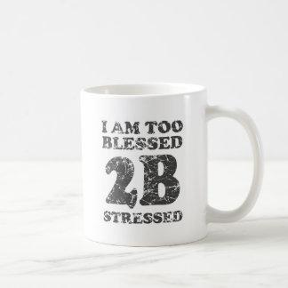 Bendecido también para ser subrayado - diseño resi taza de café