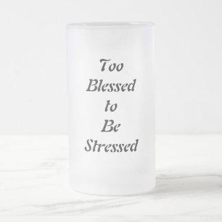 Bendecido también para ser subrayado taza de cristal