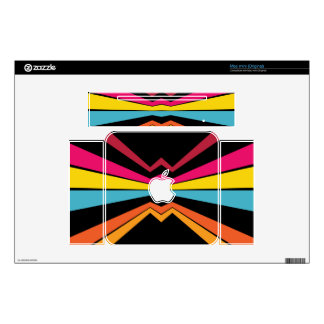 Bended stripes abstract design decals for the mac mini