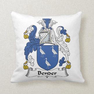 Bender Family Crest Throw Pillow