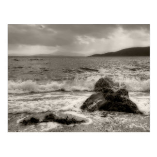 Benderloch Waves in Scotland Postcard
