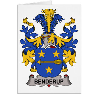 Benderup Family Crest Greeting Card