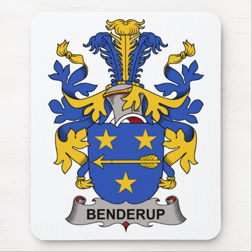 Benderup Family Crest Mouse Pad
