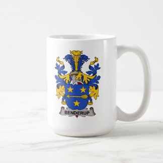 Benderup Family Crest Classic White Coffee Mug