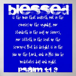 , Bendicen al hombre ese walketh no en el co… Póster