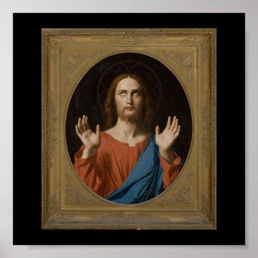 Bendición Cristo circa 1834 Posters