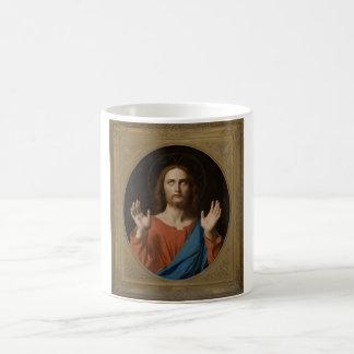 Bendición Cristo circa 1834 Taza