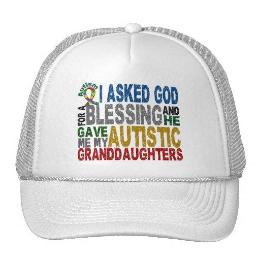 Bendición de 5 camisetas y Appare del autismo de l Gorros Bordados