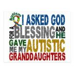 Bendición de 5 camisetas y Appare del autismo de l Tarjetas Postales