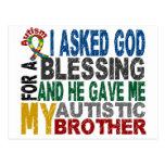 Bendición de 5 camisetas y ropas del autismo de BR Tarjetas Postales