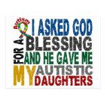 Bendición de 5 camisetas y ropas del autismo de la postales