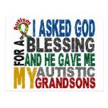Bendición de 5 camisetas y ropas del autismo de lo tarjetas postales