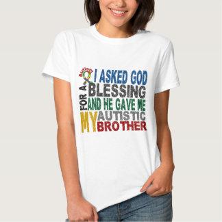 Bendición de 5 camisetas y ropas del autismo de polera