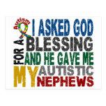 Bendición de 5 camisetas y ropas del autismo de postal