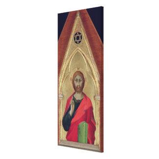 Bendición de Cristo, c.1325 Lienzo Envuelto Para Galerías