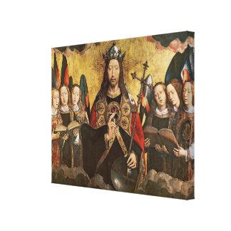 Bendición de Cristo, el panel central de un trípti Impresiones De Lienzo