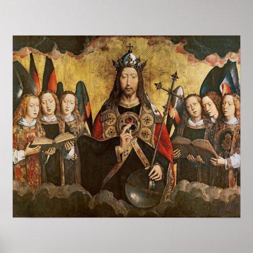 Bendición de Cristo, el panel central de un trípti Posters