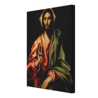 Bendición de Cristo Lienzo Envuelto Para Galerias