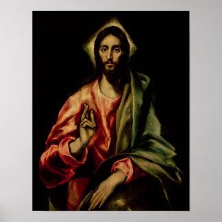 Bendición de Cristo Póster