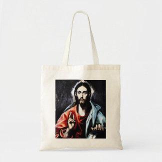 Bendición de El Greco Cristo Bolsa Tela Barata
