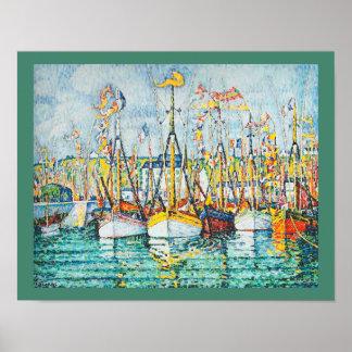 Bendición de la flota del atún en Groix de Paul Póster