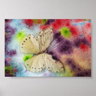 Bendición de la mariposa póster