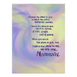 Bendición de Namaste Posters