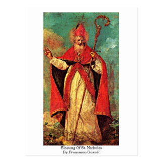 Bendición de San Nicolás de Francesco Guardi Tarjeta Postal