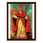 Bendición de San Nicolás de Guardi Francisco Postal