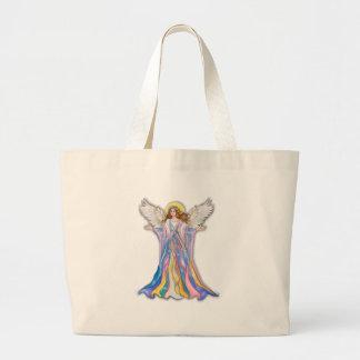 Bendición del ángel de guarda bolsa tela grande